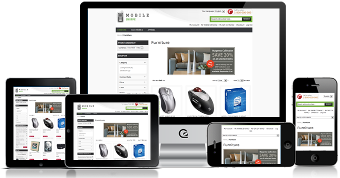 mobile shoppe a responsive magento theme is now compatible with