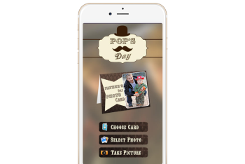 Fathers Day Photo Card ios